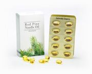 Red pine oil capsules provided by Optimally Organic