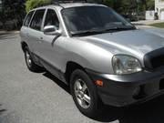 Silver Color 2001 Hyundai Santa Fe GLS AWD 4dr