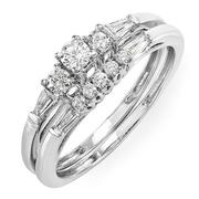 zirconia wedding sets at Dazzling Rock