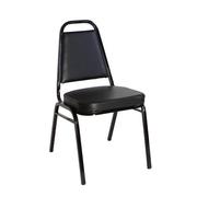 Black Vinyl 2 Inch Banquet Chair