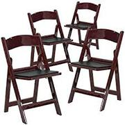 Larry Harvey Presenting Resin Mahogany Folding Chair