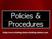 Policy and Procedures About Folding Chair Larry Hoffman