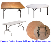 Plywood Folding Square Tables at 1stfoldingchairs.com