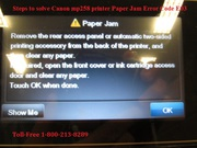 Solve Canon mp258 printer Paper Jam Error E03 | 1-800-213-8289