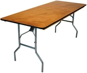 PLYWOOD FOLDING BANQUET TABLE