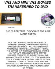 VHS Movies converted to DVD