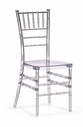 CRYSTAL RESIN CHIAVARI CHAIR WITH FREE CUSHION
