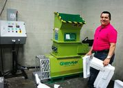 Styrofoam melting machine of GREENMAX Mars C200