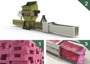 GreenMax recycling styrofoam compactor Of ZEUS C100