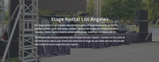Los Angeles Stage Rental Prices,  Stage Rental Los Angeles