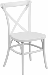 WHITE RESIN X BACK CHAIR