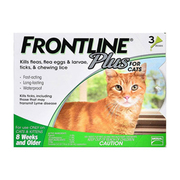 No More Flea and Tick with Frontline Plus For Cats